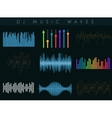DJ sound waves set Colorful abstract vector image vector image