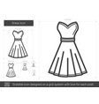 dress line icon vector image