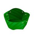 Empty Counts Banana Leaf on White Background vector image