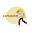 financial dependence poster banner design with vector image