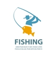 fishing logo design template fisherman vector image vector image