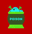 Flat icon on stylish background potion cauldron vector image