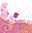 Flourishes with butterfly vector image vector image