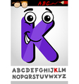 funny letter k cartoon vector image vector image