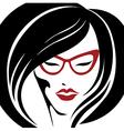 girl glasses 2 2 vector image
