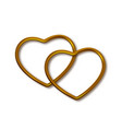 gold heart shaped frame vector image