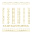 Golden outline borders vector image vector image