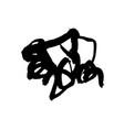 grunge ink pen stroke vector image vector image