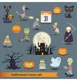 Halloween set 3 vector image vector image