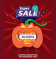 halloween super sale template banner special vector image