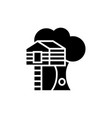 house on tree - tree house icon vector image vector image