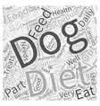 importance a feeding schedule in your dogs diet vector image vector image