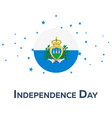 independence day of san marino patriotic banner vector image