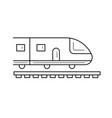 journey subway train line icon vector image vector image