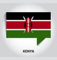 kenya flag design vector image