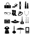 ladies accessories icons set vector image