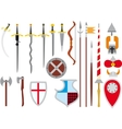 large set of medieval weapons vector image vector image