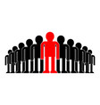 leader in crowd boss concept business vector image