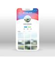 liquid background social network profile ui ux vector image vector image