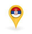 Location Serbia vector image vector image