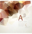 Low poly triangular background vector image