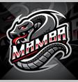 mamba esport mascot logo design vector image