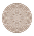 mandala brown henna oriental decorative flower vector image vector image