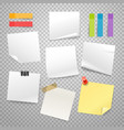 many blank paper stickers collection advertising vector image