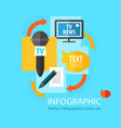 mass media infographic flat concept vector image