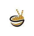 meals in bowl vector image