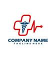 medical logo cross logo medical center logo vector image vector image