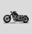 motorcycle emblem biker club vintage style vector image