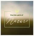 natures spirit background vector image vector image
