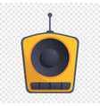 one speaker radio icon cartoon style vector image