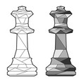 outline chess queen vector image vector image