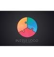 puzzle circle logo puzzle logo Creative logo vector image vector image