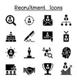 recruitment career job icon set graphic design vector image