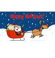 Santa cartoon vector image vector image