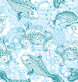 Seamless pattern in the style of mehendi vector image