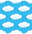 Seamless pattern of clouds on blue sky vector image vector image