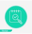 search calendar icon sign symbol vector image