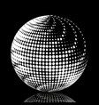 set abstract halftone 3d spheres 19 vector image vector image