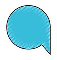 silhouette of colored pencils of speech bubble vector image vector image