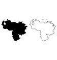 simple only sharp corners map - bolivarian vector image vector image