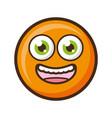 smiley emoji funny vector image