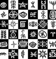 Squares background with ethnic motifs