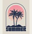 summer time emblem or logo or label or t-shirt or vector image