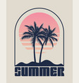 summer time emblem or logo or label or t-shirt vector image