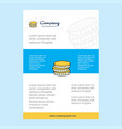 template layout for coins comany profile annual vector image vector image