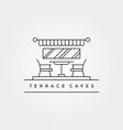 terrace cafes icon line art logo minimalist vector image vector image